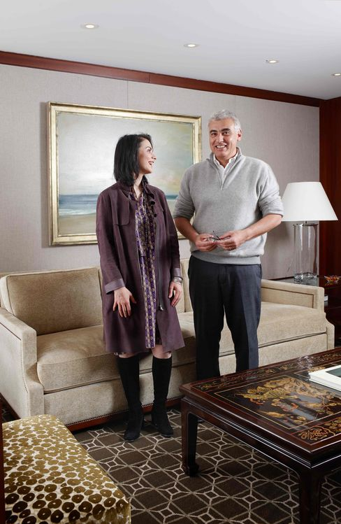 Marc Lasry, managing partner and founder of Avenue Capital Management II, stands for a photograph with his sister Sonia Gardner at the company's office in New York, Jan. 6, 2011. Photographer: Douglas Adesko/Bloomberg Markets via Bloomberg