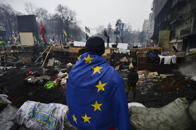 Without further EU intervention, Russia will continue its push into Ukraine.Photographer: Alexander Koerner/Getty Images