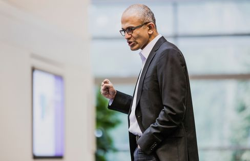 New Microsoft Corp. CEO Satya Nadella is seeking to reshape a company whose main businesses are losing steam as efforts to expand on the Web and in mobile devices have been thwarted by Apple Inc. and Google Inc. Source: Microsoft Corp. via Bloomberg