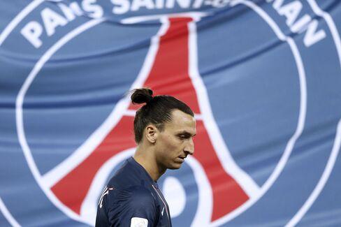 Paris Saint-Germain Forward Zlatan Ibrahimovic