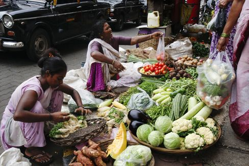 India Food Inflation to Nine-Month High on Vegetables