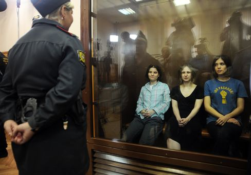 Russian Court Sentences Pussy Riot Punks to 2 Years in Jail