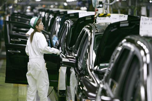 Japan's Industrial Output Unexpectedly Falls on Global Weakness