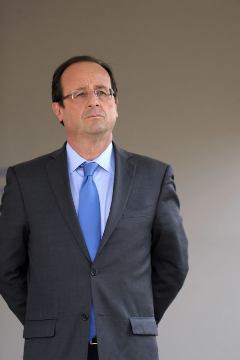 Socialist Party Candidate Francois Hollande