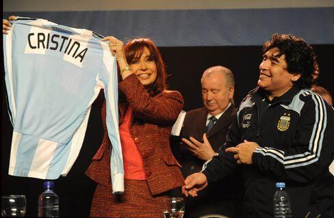 Cristina Fernandez with Diego Maradona