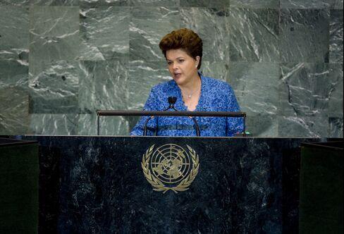 Brazil's president Dilma Rousseff. Photographer: Scott Eells/Bloomberg