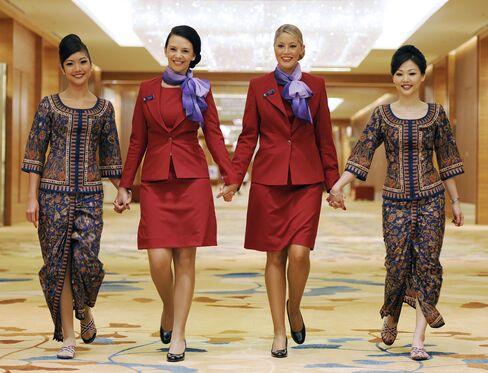 Singapore Airlines And Virgin Australia Flight Crew