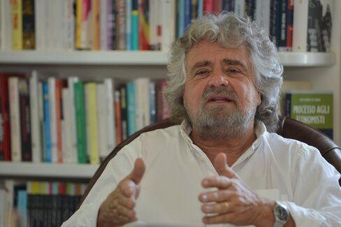 Italian Comedian-Turned-Politician Beppe Grillo