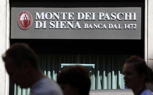 Paschi Investors Denied Vintage Chianti as Rescue Looms