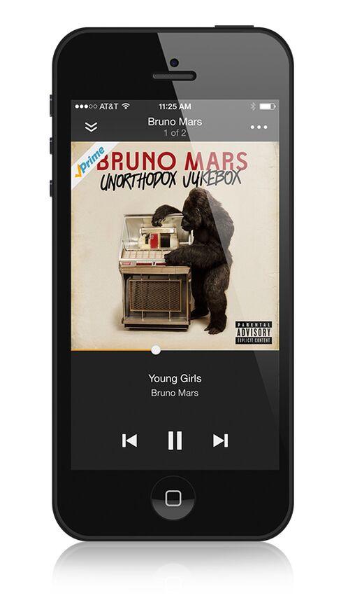 Prime Music Phone Screen
