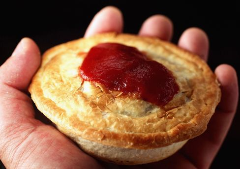 More than 2.6 million liters (686,847 gallons) of Rosella Tomato Sauce are sold annually, enough to top 160 million meat pies, the company said. Photographer: Ian Waldie/Getty Images