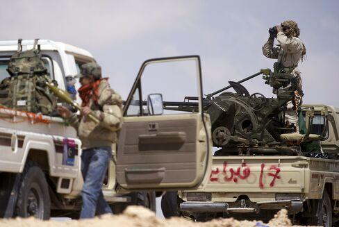 Libyan Rebels Near Brega
