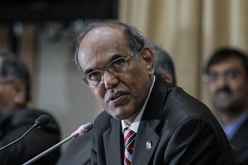 Indian Central Bank Governor Duvvuri Subbarao