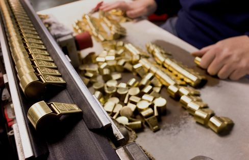 Brass Whistles Sit on The Production Line