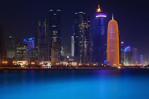 Buildings Stand on the Doha Skyline