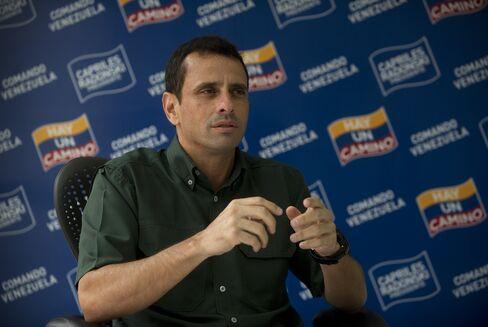 Venezuelan Opposition Candidate Henrique Capriles Radonski