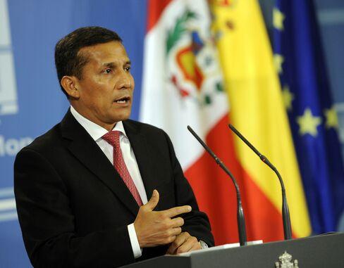 Peruvian President Ollanta Humala