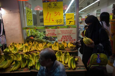 Bananas For Sale in Hong Kong