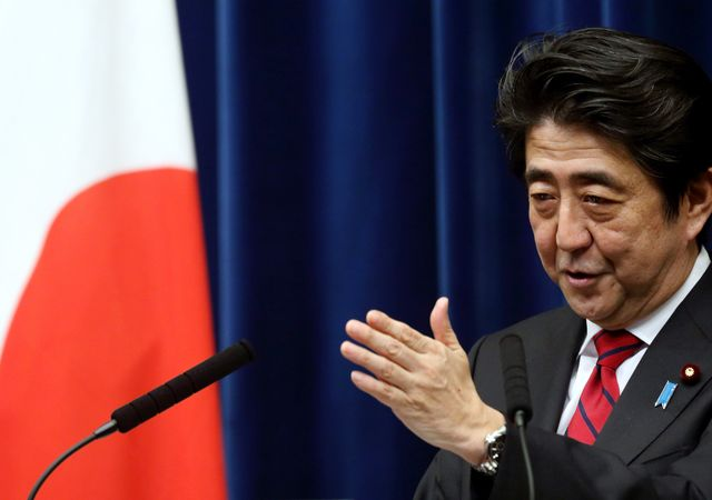 Japanese Prime Minister Shinzo Abe is looking backward, not forward. Photographer: Tomohiro Ohsumi/Bloomberg