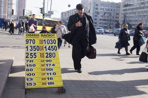 Foreign exchange rates in Kiev