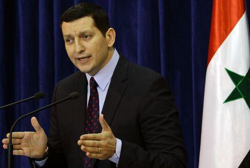 Syrian Foreign Ministry Spokesman Jihad Makdissi