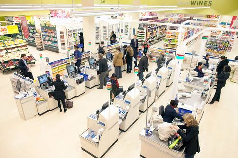 Tesco Shoppers in London