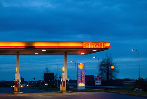 A Royal Dutch Shell Plc Gas Station