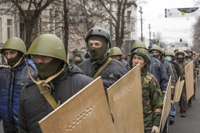 China has not shied away from broadcasting the unrest in Ukraine. Photographer: Vincent Mundy/Bloomberg