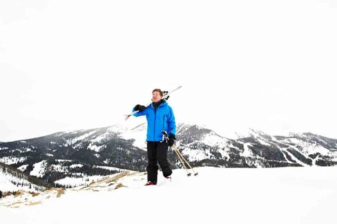 Buyout Baron Sam Byrne Skis Deep Powder at the Yellowstone Club
