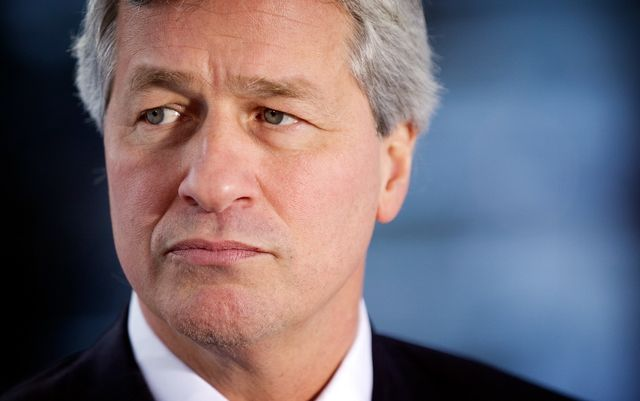 The board probably was going to deny Dimon a raise, but then he made this face and they relented. Photographer: Simon Dawson/Bloomberg