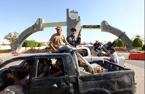 Fighters Outside Tripoli International Airport