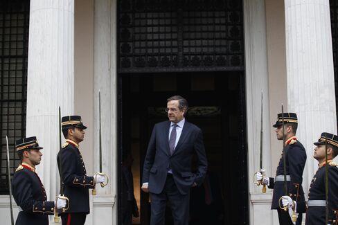 Greek Prime Minister Antonis Samaras. Photographer: Kostas Tsironis