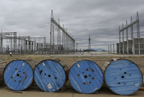 Barrels of Prysmian SpA Cables sit at a Wind Farm in Mexico