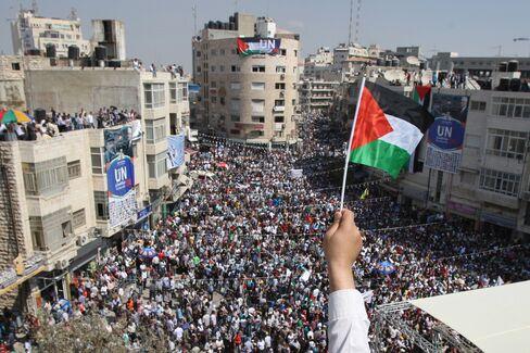Palestinians Back UN Statehood Bid With West Bank Rallies
