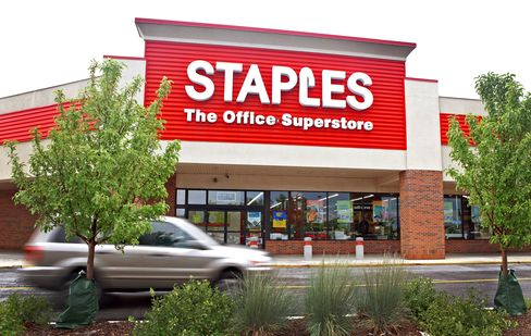 Staples Traders See Rally After Decade's Biggest Drop