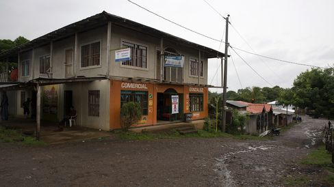 The tiny town of El Tule in Nicaragua.