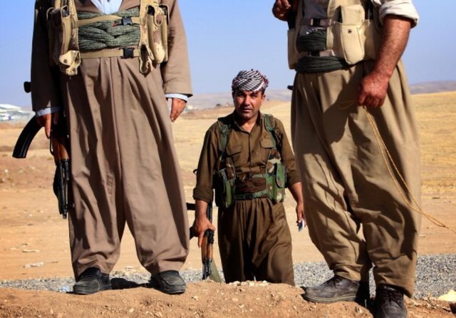 U.S. warplanes struck insurgents battling Kurds in northern Iraq.