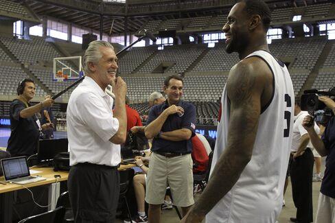 Miami Heat President Pat Riley & Player LeBron James
