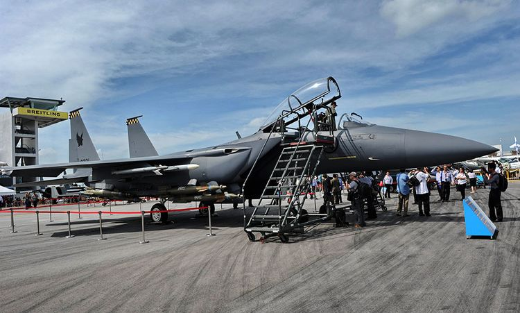 Boeing Jet Fighter a Boeing F-15sg Eagle Fighter