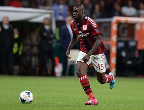 Italian soccer player Mario Balotelli