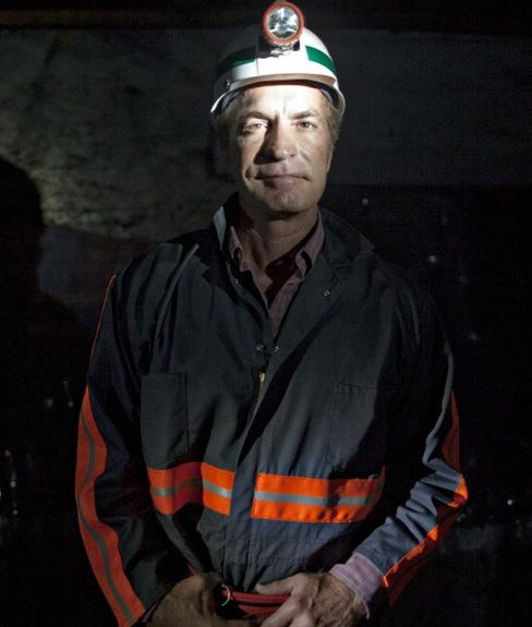Chris Cline, owner of Foresight Energy LLC, stands in his company's Shay coal mine. Photographer: Andrew Harrer/Bloomberg