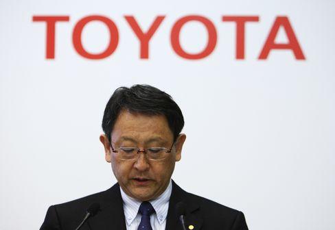 Toyota Motor Corp. President Akio Toyoda