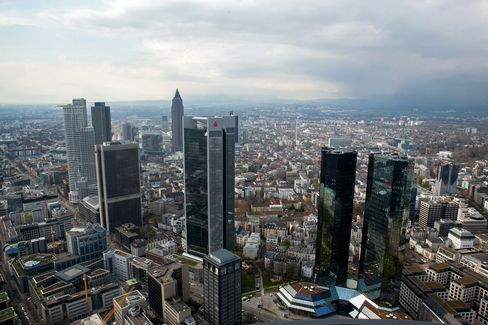 Skyscrapers Stand in the Financial District in Frankfurt