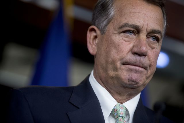 House Speaker John Boehner says Republicans will sue to force President Barack Obama to enforce the law.