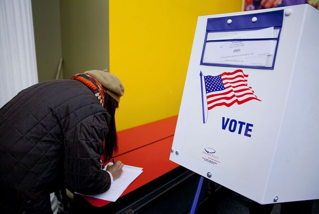 What if just one state made voting mandatory? Photographer: Jin Lee/Bloomberg