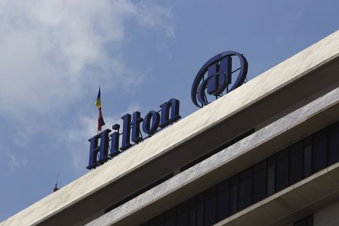 The Hilton Hotel Logo is Displayed in Colombo