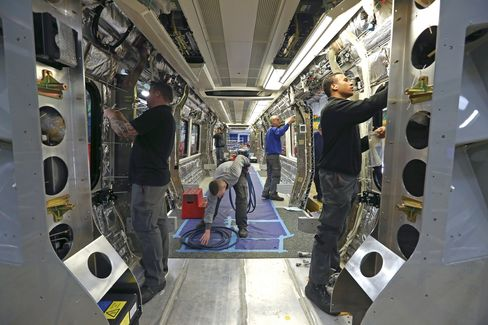 Employees Work on a Subway Carriage in Derby