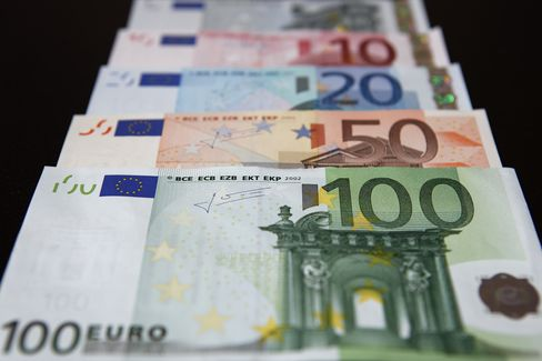 Euro Strengthens for Second Day Amid Spanish Bailout Speculation