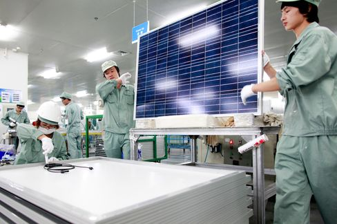 Suntech Solar Factory in China