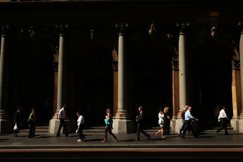 Commuters in Sydney